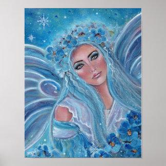 Krysta frosty blue fairy poster by Renee Lavoie