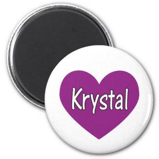 Krystal 2 Inch Round Magnet