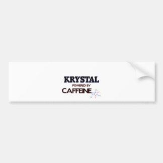 Krystal accionó por el cafeína etiqueta de parachoque