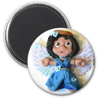 Krystal Angel I 2 Inch Round Magnet