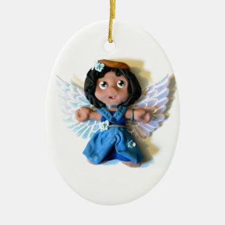 Krystal Angel I Ceramic Ornament