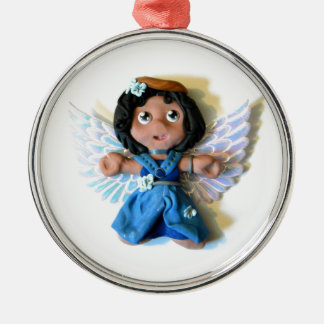 Krystal Angel I Metal Ornament