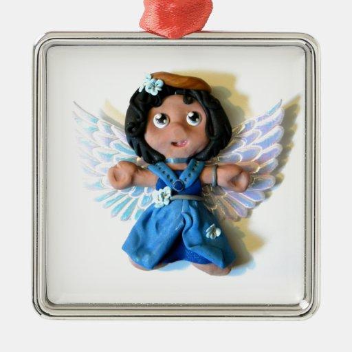 Krystal Angel I Metal Ornament