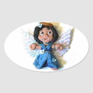 Krystal Angel I Oval Sticker