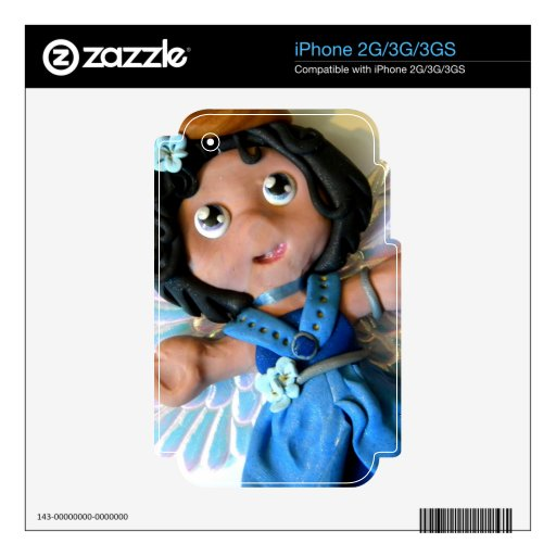 Krystal Angel II Decal For The iPhone 2G