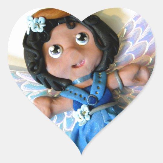 Krystal Angel II Heart Sticker