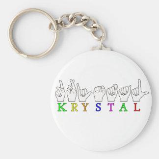 KRYSTAL ASL FINGERSPELLED NAME FEMALE SIGN KEYCHAIN