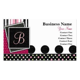 Krystal Chic Pink Business Card