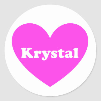 Krystal Classic Round Sticker