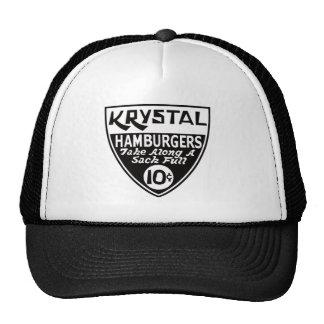 Krystal escudo de 10 centavos gorros bordados