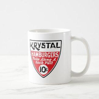 Krystal escudo de 10 centavos taza básica blanca