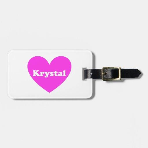 Krystal Etiqueta Para Equipaje