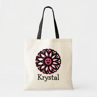Krystal Happy Flower Personalized Tote Bag
