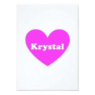 """Krystal Invitación 5"""" X 7"""""""