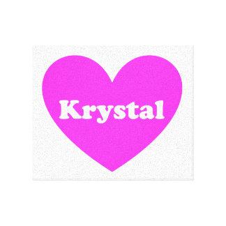 Krystal Impresión En Lienzo Estirada