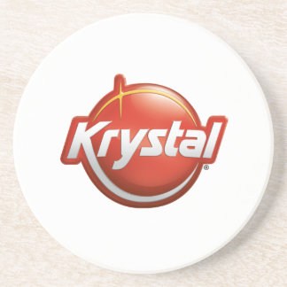 Krystal Logo Coaster in White