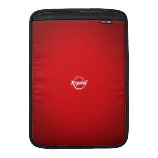 Krystal Logo Red MacBook Air Sleeve