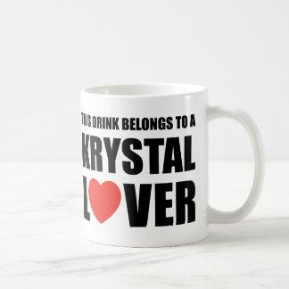 Krystal Lover Classic White Coffee Mug
