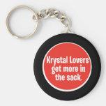 Krystal Lovers -  In the Sack Basic Round Button Keychain