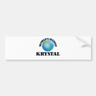 Krystal más atractivo del mundo pegatina para coche