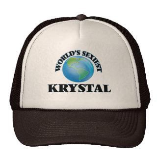 Krystal más atractivo del mundo gorra