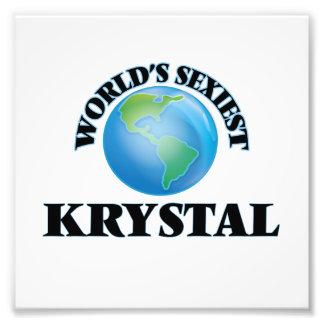 Krystal más atractivo del mundo impresión fotográfica