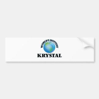 Krystal más caliente del mundo pegatina para coche