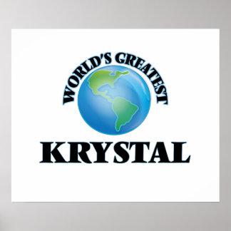 Krystal más grande del mundo poster