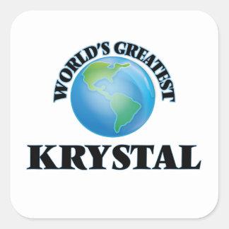Krystal más grande del mundo pegatina cuadrada
