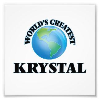 Krystal más grande del mundo arte fotografico
