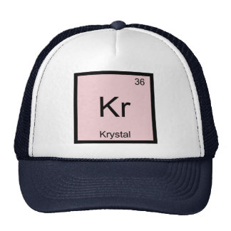 Krystal  Name Chemistry Element Periodic Table Trucker Hat