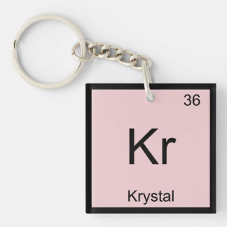 Krystal  Name Chemistry Element Periodic Table Single-Sided Square Acrylic Keychain