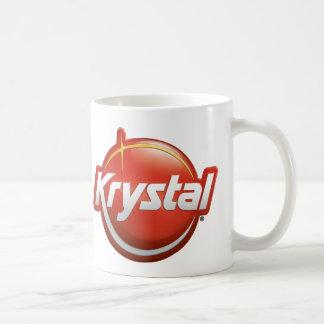 Krystal New Logo Classic White Coffee Mug