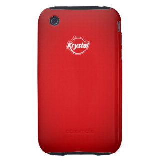 Krystal Red iPhone Case iPhone 3 Tough Cases
