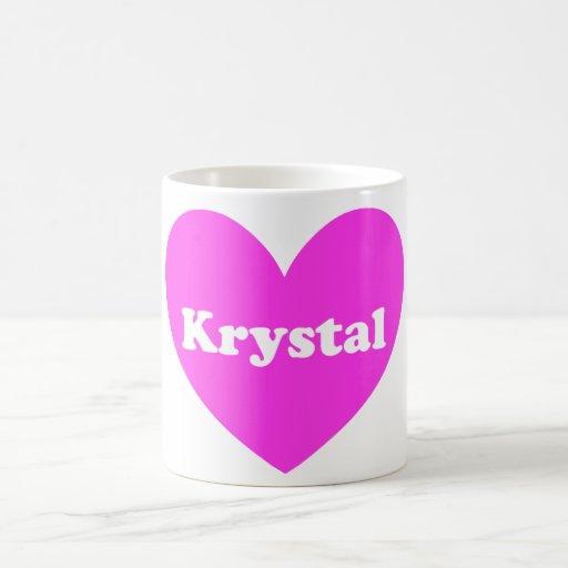 Krystal Tazas De Café