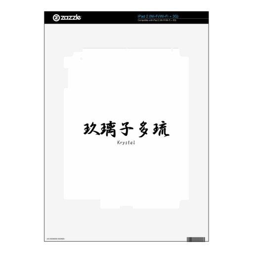 Krystal tradujo a símbolos japoneses del kanji skins para eliPad 2
