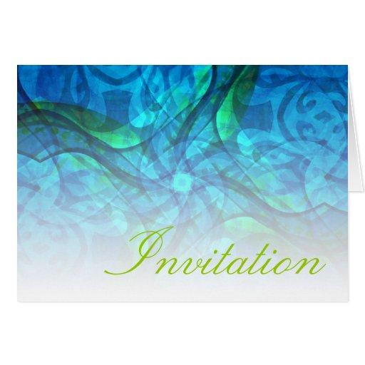 Krystalis toda la tarjeta de la invitación de la o