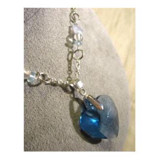 Krystals Blue Heart Personalized Flyer