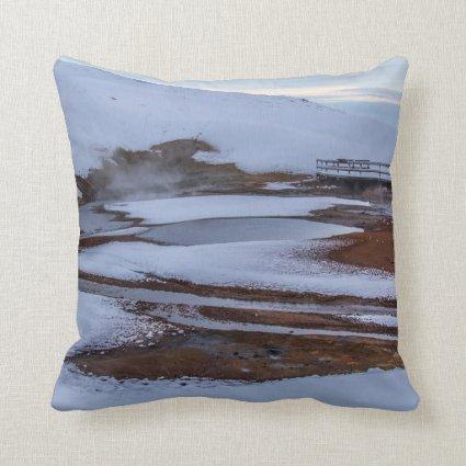 Throw Pillows Ralph Lauren : Krysuvic-Seltun Hot Spring Landscape Iceland Throw Pillows Fine Art Photography by Pixie