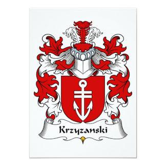 Krzyzanski Family Crest Card