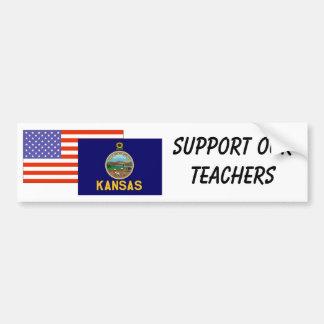 KS--Apoye a nuestros profesores Pegatina Para Auto