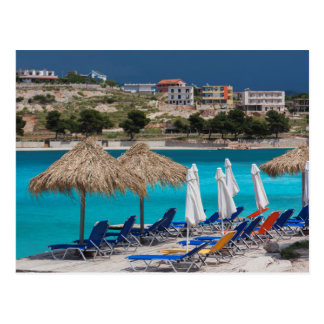 Ksamil, town beachfront postcard
