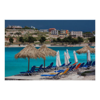 Ksamil, town beachfront print