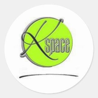 Kspace Miami Classic Round Sticker