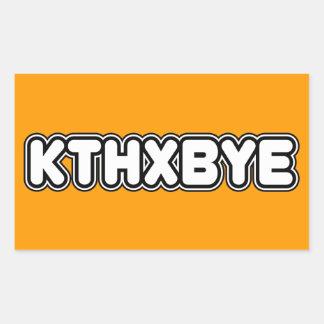 KTHXBYE RECTANGULAR ALTAVOZ