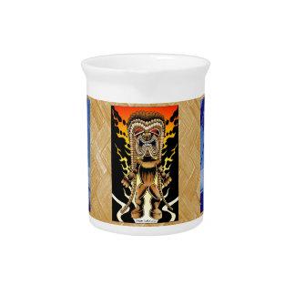 Ku, dios hawaiano de Tiki Jarra De Beber