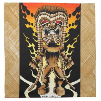 Ku, dios hawaiano de Tiki Servilletas De Papel
