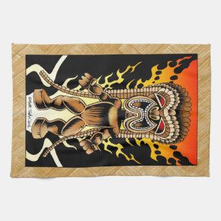 Ku, Hawaiian Tiki God Towel