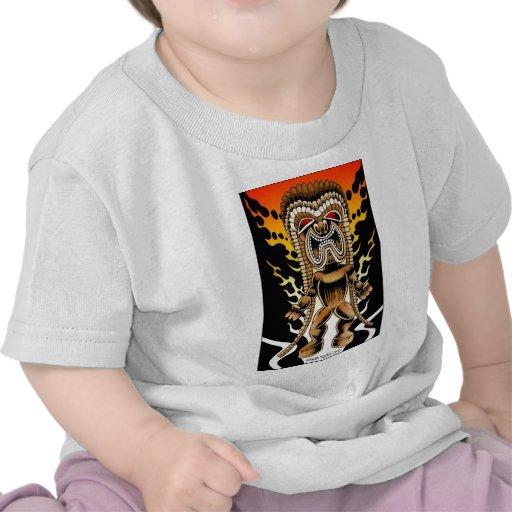 Ku, Hawaiian Tiki God Tshirt