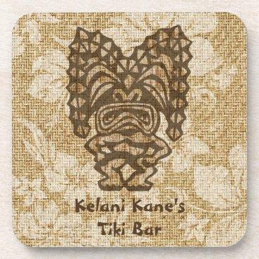 DriveIndustries Ku-Tiki Hawaiian Tiki Bar Cork-backed Coasters